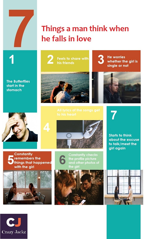 what does a man think when he falls in love? The 7 things