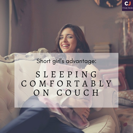 Short Girl's Advantage: Sleeping comfortably on couch